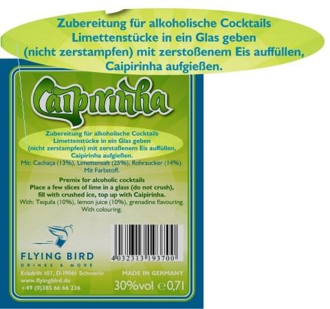 Caipirinha Rezept mit Zutaten-Info & Herstellerangaben