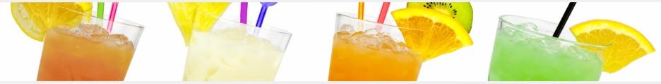 alkoholfreie Cocktails - vier leckere Drinks fertig gemixt im Glas