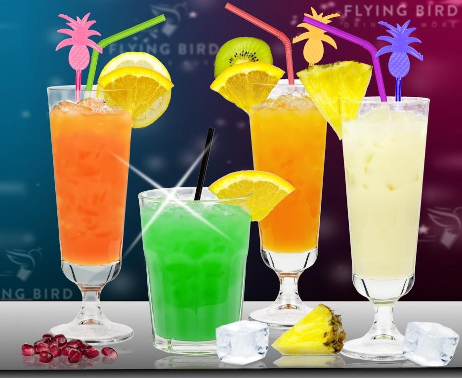Einfache alkoholfreie Cocktails von Flying Bird - leckere Mix Drinks ohne Alkohol