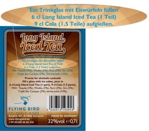 Long Island Iced Tea Rezept mit Zutaten, Mixanleitung & Herstellerangaben