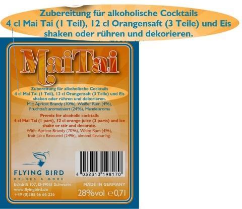Mai Tai Rezept  Zutaten, Mixanleitung und Herstellerangaben