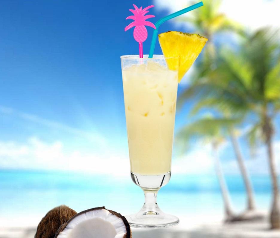 Piña Colada Rezept - original mit 3 Zutaten: Rum, Kokos, Ananas