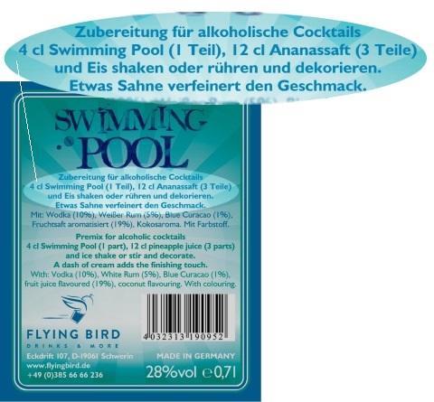 Swimming Pool Cocktail Rezept mit Zutaten & Herstellerinfo