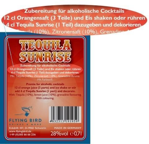 Tequila Sunrise Rezept mit Zutaten, Mixanleitung & Herstellerangaben