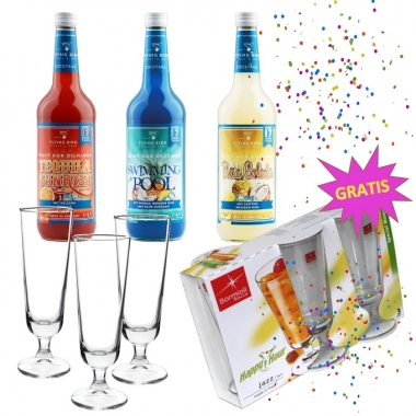 Faschingpaket 3 Cocktails | 3 Gläser gratis