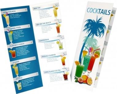 Cocktailkarte mit 14 Cocktails