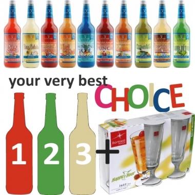 Drei Cocktails Ihrer Wahl + 3 Cocktailgläser JAZZ