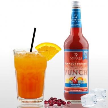 Einfache Cocktails zuhause mixen - Planter's Punch mit Orangensaft und Eis