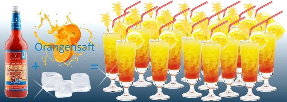 17 fertige Cocktails Tequila Sunrise je Flasche - jetzt online kaufen