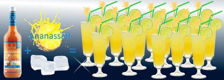 17 fertige Cocktails Zombie je Flasche - jetzt online kaufen