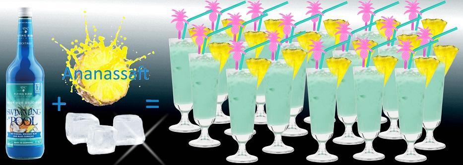 17 fertige Cocktails Swimming Pool mit Alkohol - jetzt online kaufen