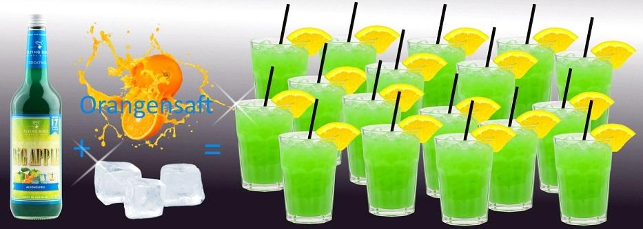 17 trinkfertige Cocktails Big Apple je Flasche!